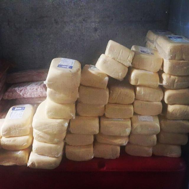 Foto de queijos e linguiças apreendidos no Rock in Rio foi publicada por Roberta Sudbrack