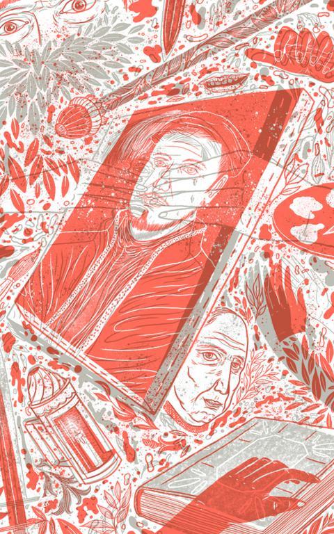 Ilustração do livro 'Novelas Trágicas' de Marquês de Sade