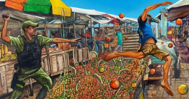 Arte da capa do quadrinho 'Castanha do Pará', de Gidalti Júnior