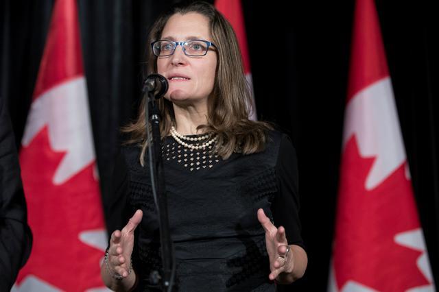 Chrystia Freeland, ministra de Relações Exteriores do Canadá