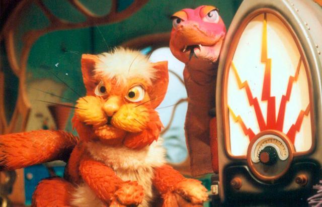 """O Gato Pintado e a cobra Celeste, dois dos bonecos presentes na trama do """"Castelo"""""""