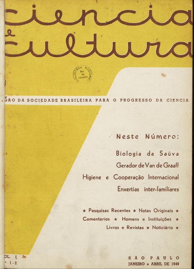 Em sua fase inicial, a revista trazia textos sobre 'pesquisas recentes', artigos de opinião, notas sobre personalidades da ciência e uma seção sobre livros