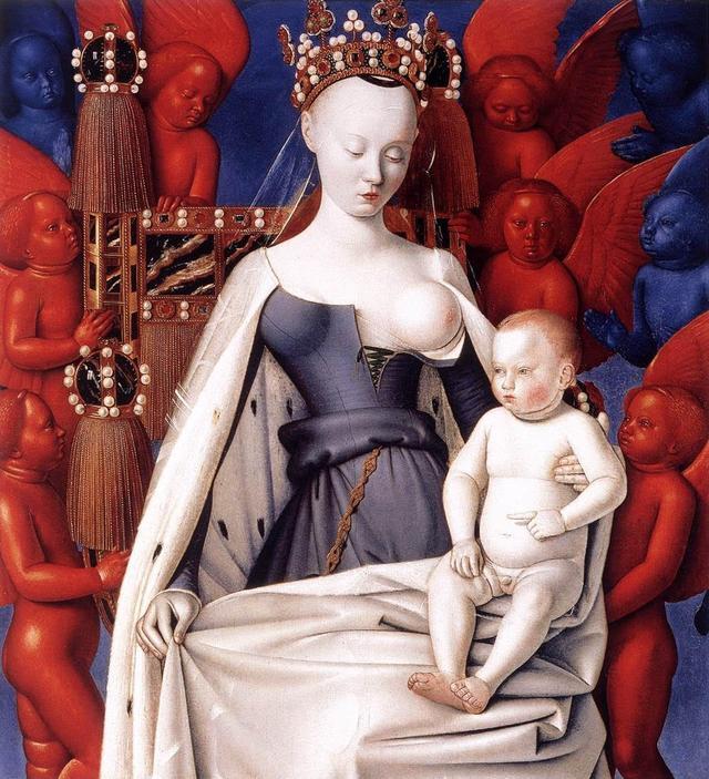 A virgem de Melun, de Jean Fouquet (c. 1450)