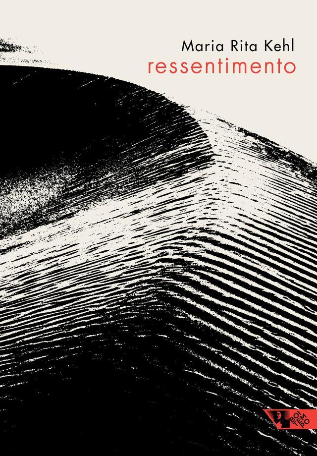 """Capa do livro """"Ressentimento"""", ilustrada com a imagem editada de uma duna de areia"""