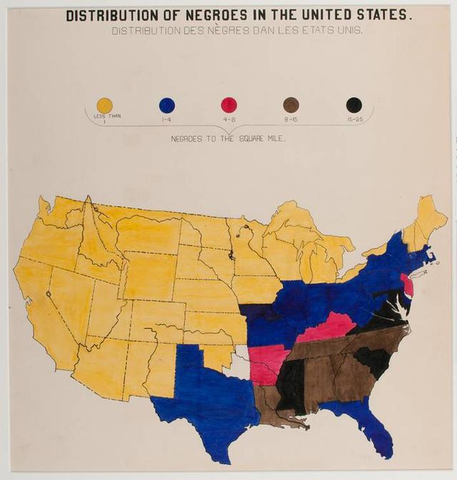 Mapa mostra distribuição da população negra nos Estados Unidos