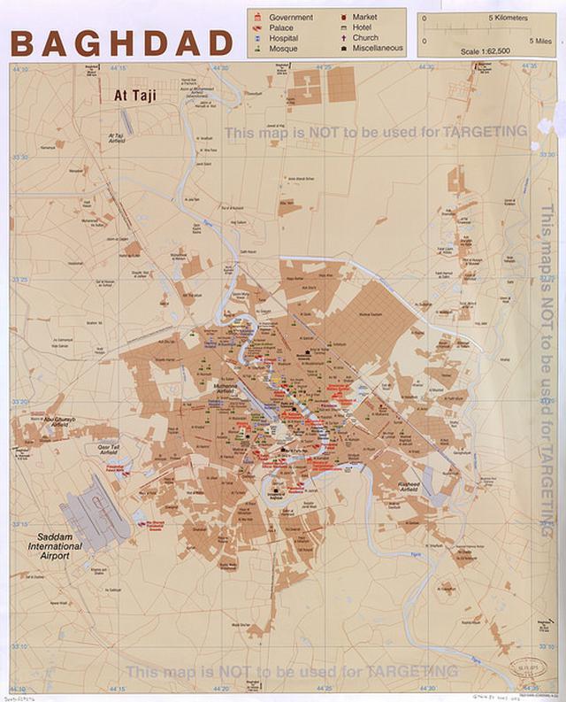 Mapa de Bagdá em 2003
