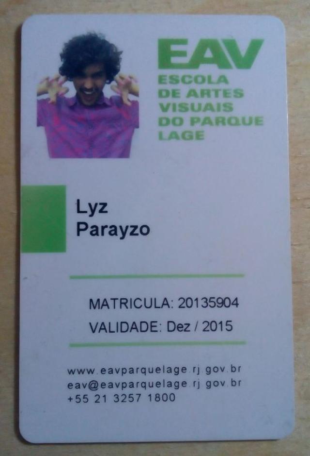 Carteirinha de Lyz Parayzo