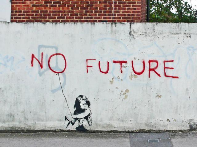 'No future girl balloon'