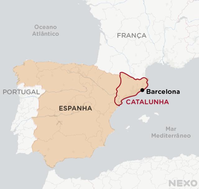 Mapa Catalunha