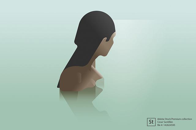 Ilustração Adobe, silêncio e solidão