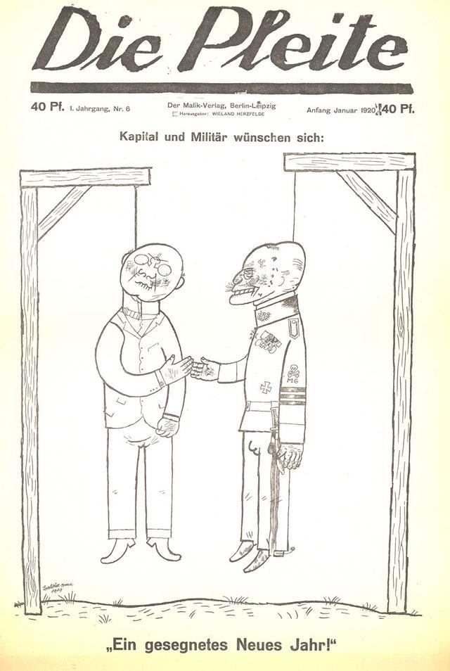 """Capa de edição da publicação dadá """"Die Pleite"""", ou """"Os quebrados"""", em uma tradução livre do alemão"""