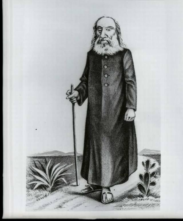 Ilustração feita em 1897 de Antônio Vicente Mendes Maciel, o Antônio Conselheiro, líder de Canudos