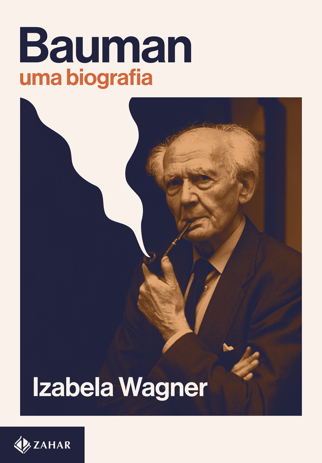 """Capa do livro """"Bauman: uma biografia"""", estampada com uma foto do sociólogo"""