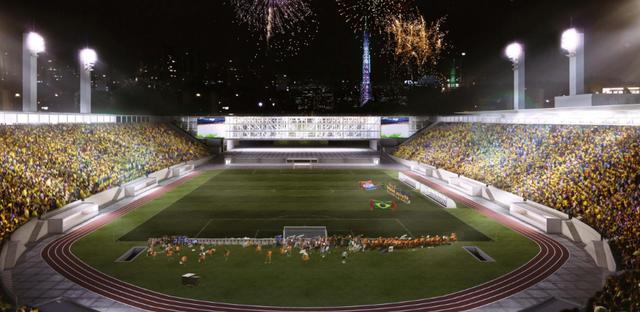Pelo projeto de referência, 'tobogã' do estádio daria lugar a edifício com hotel e academia
