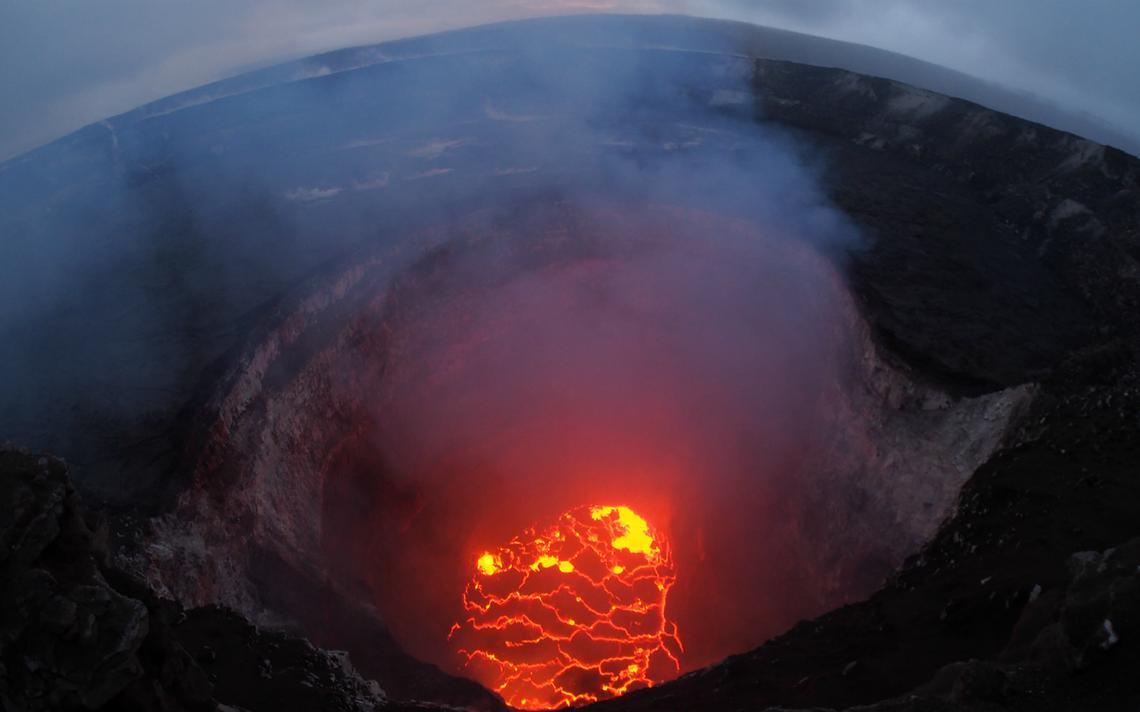 'Caldeira' do vulcão Kilauea, em atividade desde 1983