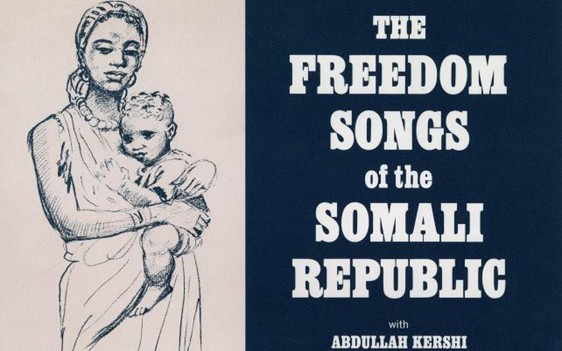 Capa do disco 'The Freedom Songs of the Somali Republic', que tem músicas na playlist