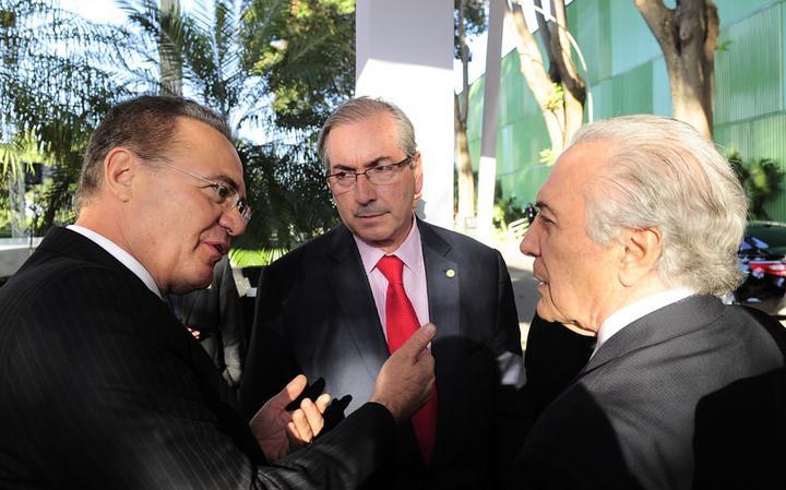 Renan Calheiros, Michel Temer e Eduardo Cunha