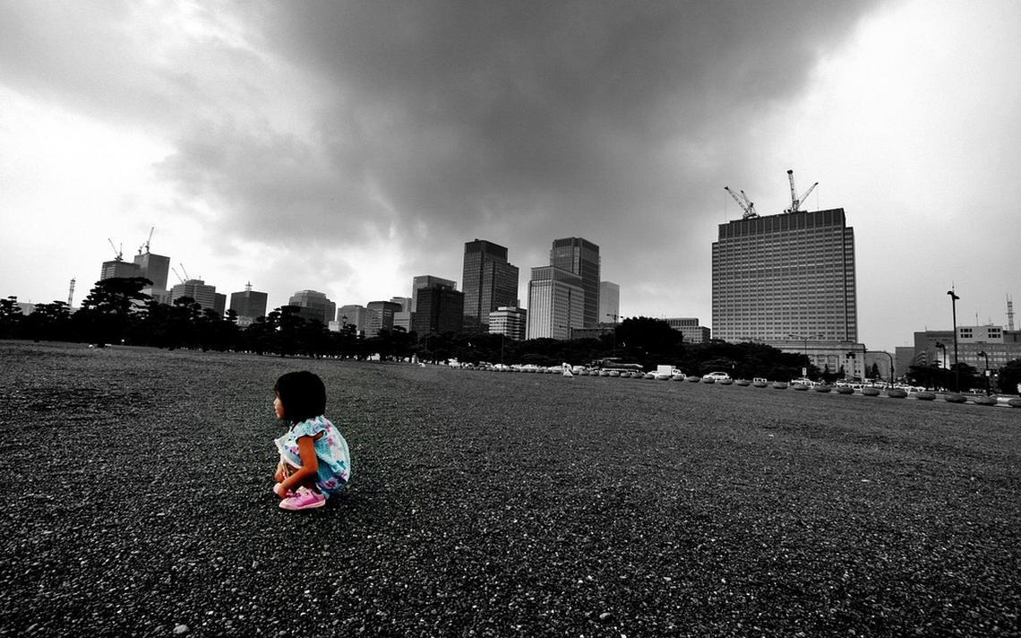 Criança em Tóquio, no Japão