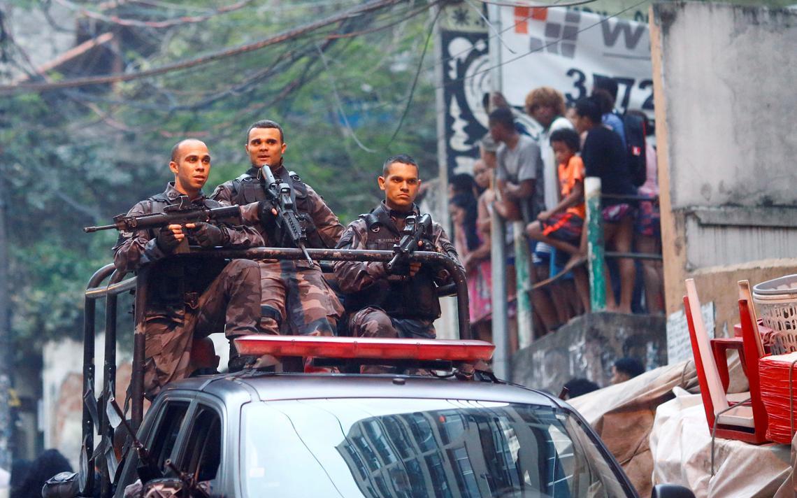 Ação policial na comunidade Pavão Pavãozinho, no Rio de Janeiro, em 2016