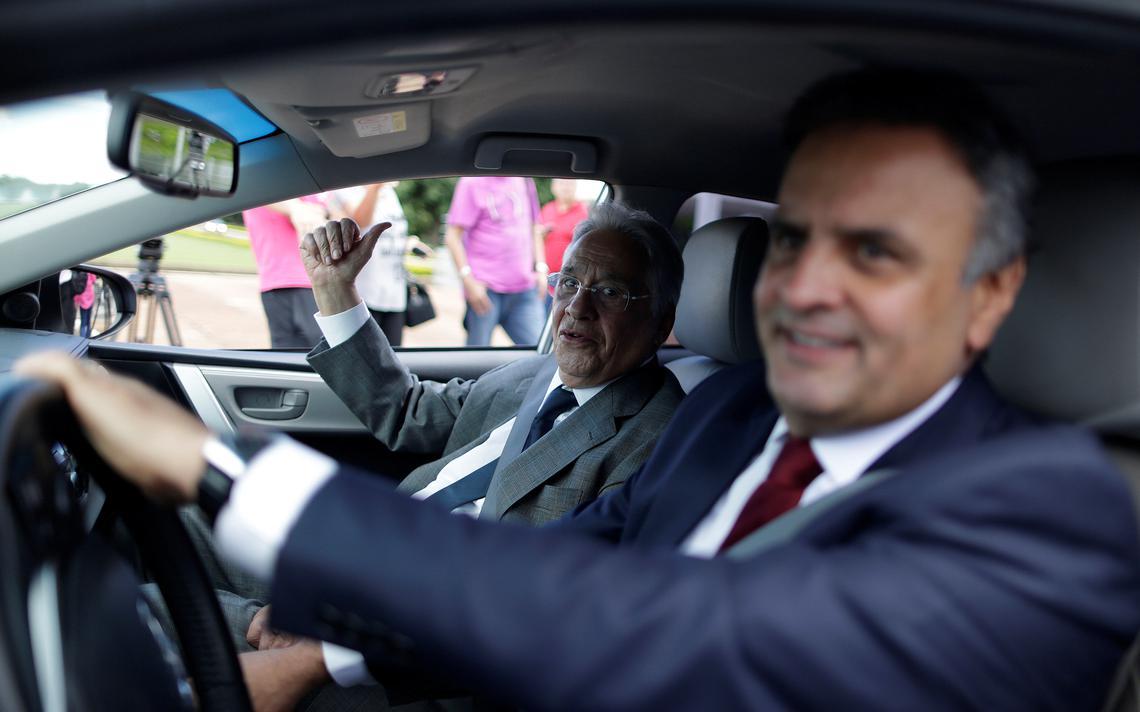 Senador Aécio Neves e ex-presidente Fernando Henrique Cardoso