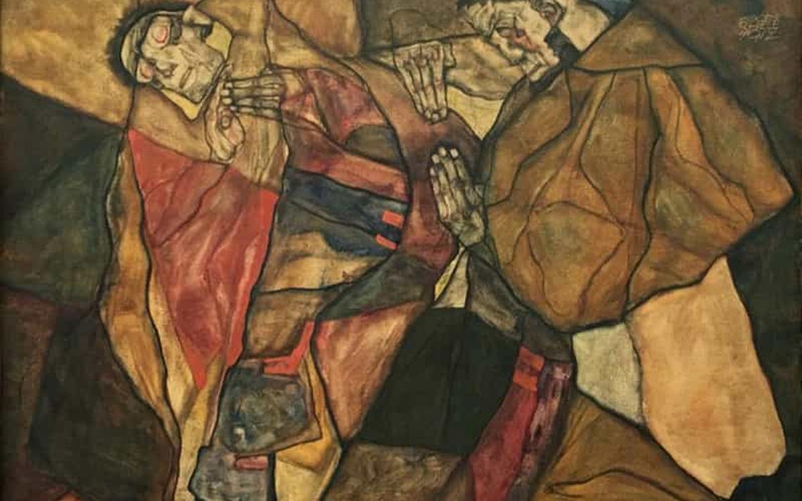 Quadro 'Agonia', pintado em 1912 por Egon Schiele