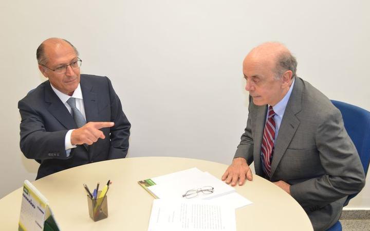 Os tucanos Alckmin e Serra