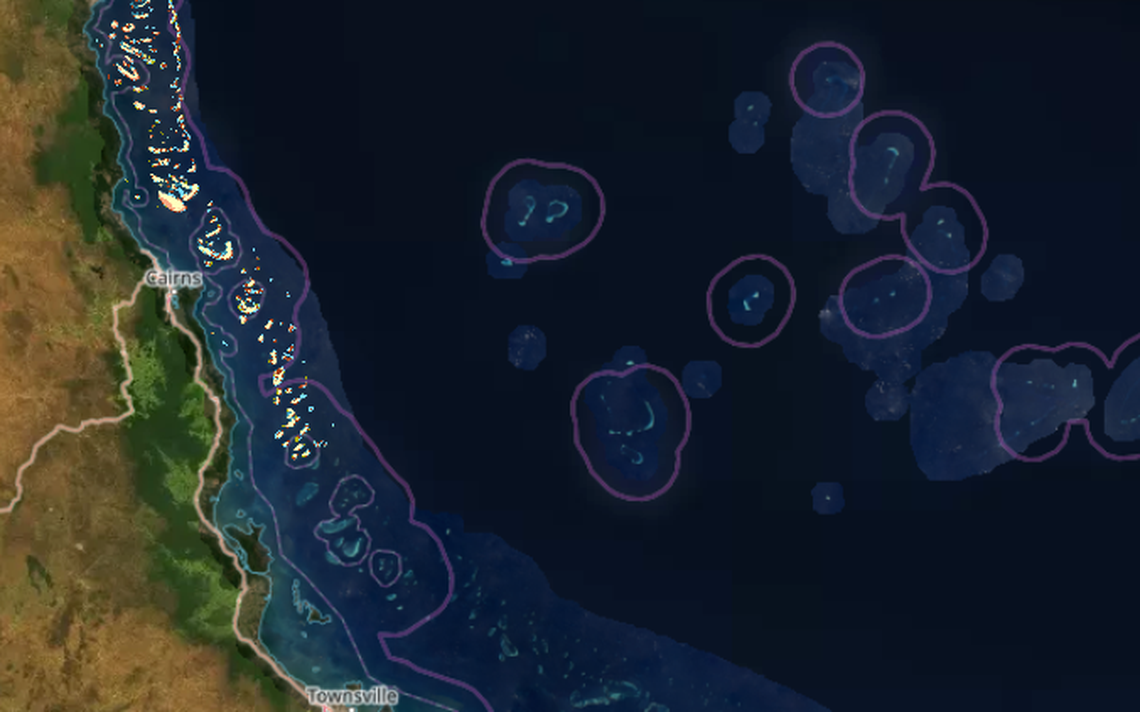 Imagem do Allen Coral Atlas