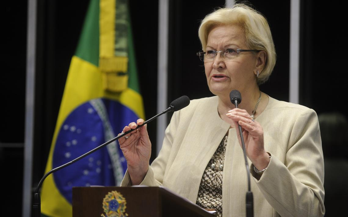 Senadora Ana Amélia criticou vídeo da presidente do PT na tribuna da Casa