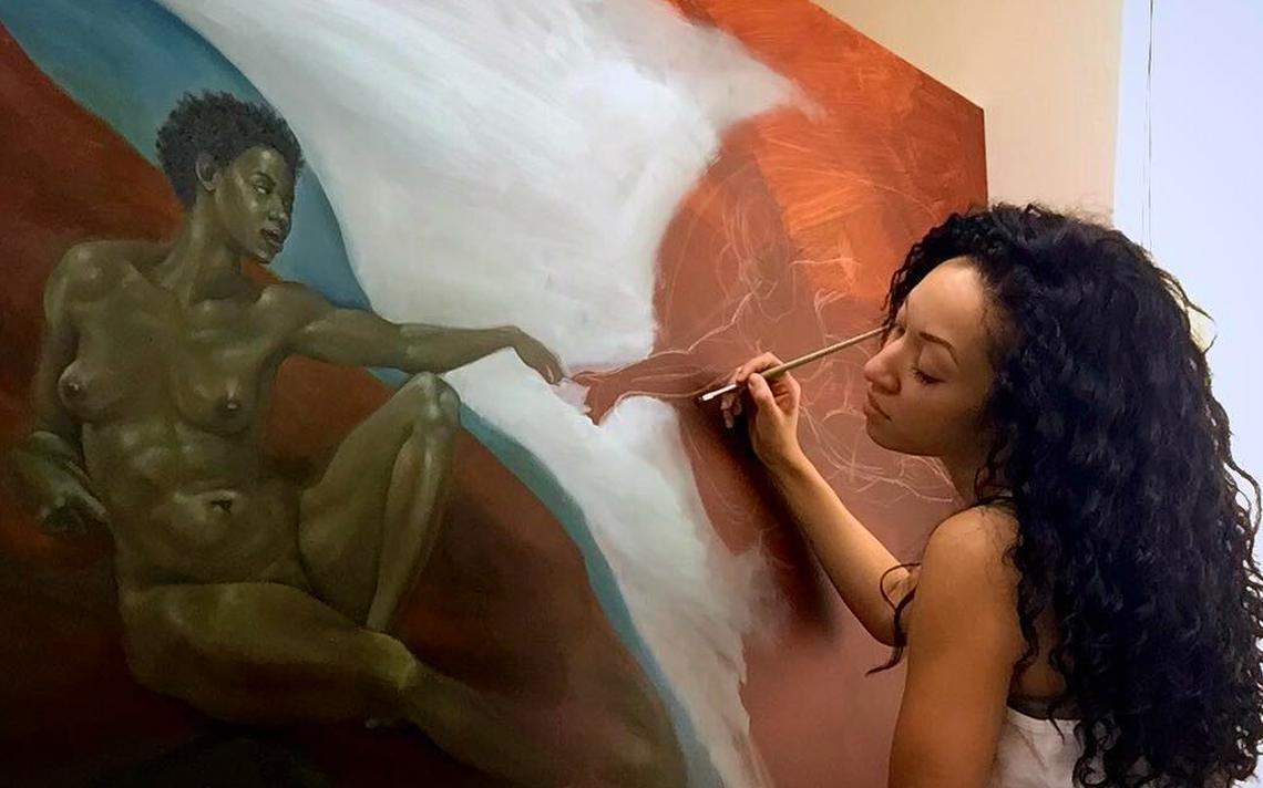 Artista plástica Harmonia Rosales
