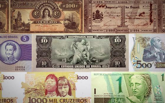 O Brasil no dinheiro