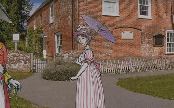 O site que oferece um tour virtual na casa de Jane Austen
