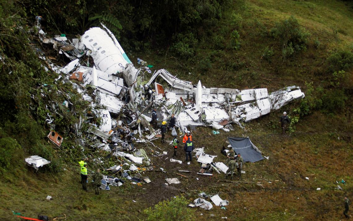 Aeronave usada pela equipe da Chapecoense para viajar a Medellín, na Bolívia