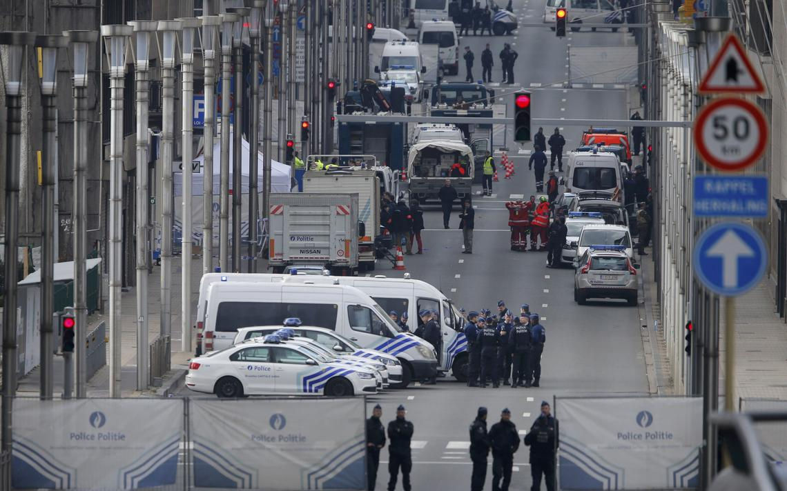 Polícia no metrô de Bruxelas