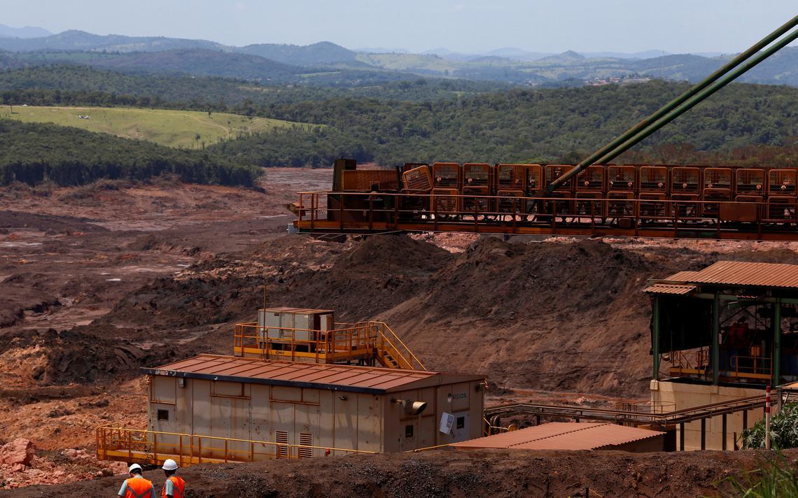 Vista da Barragem 1 da mina Córrego do Feijão que se rompeu, em Brumadinho (MG)