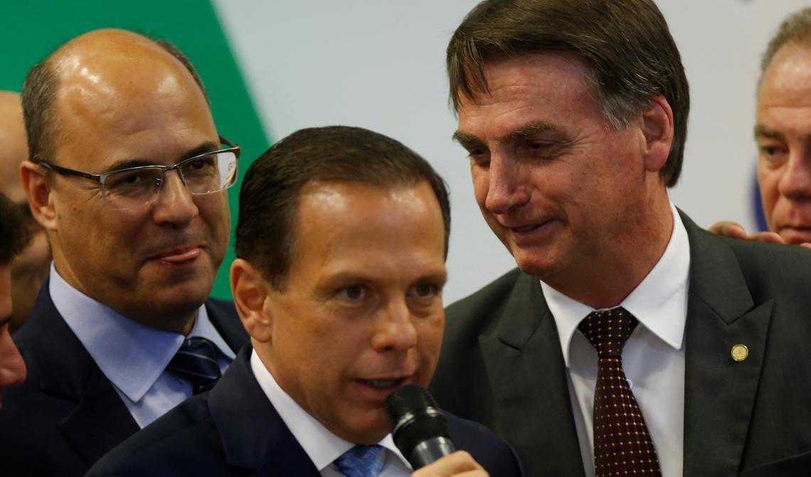 Wilson Witzel, João Doria e o presidente eleito Jair Bolsonaro