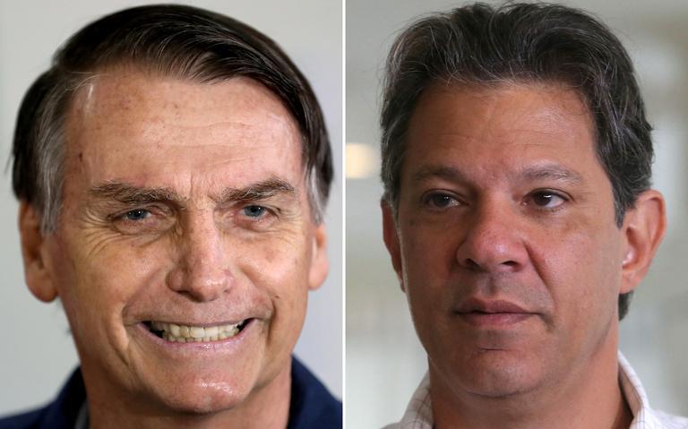 Jair Bolsonaro e Fernando Haddad disputam o 2º turno da eleição presidencial de 2018