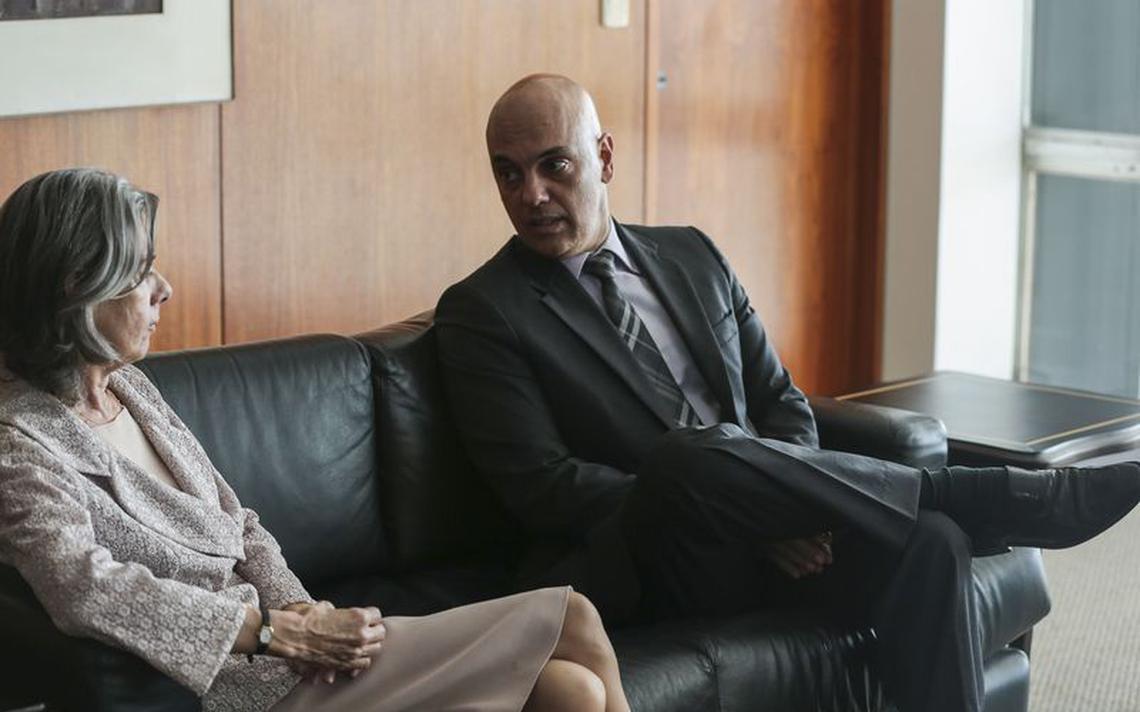 Presidente do Supremo, ministra Cármen Lúcia, e o ministro da Justiça, Alexandre de Moraes