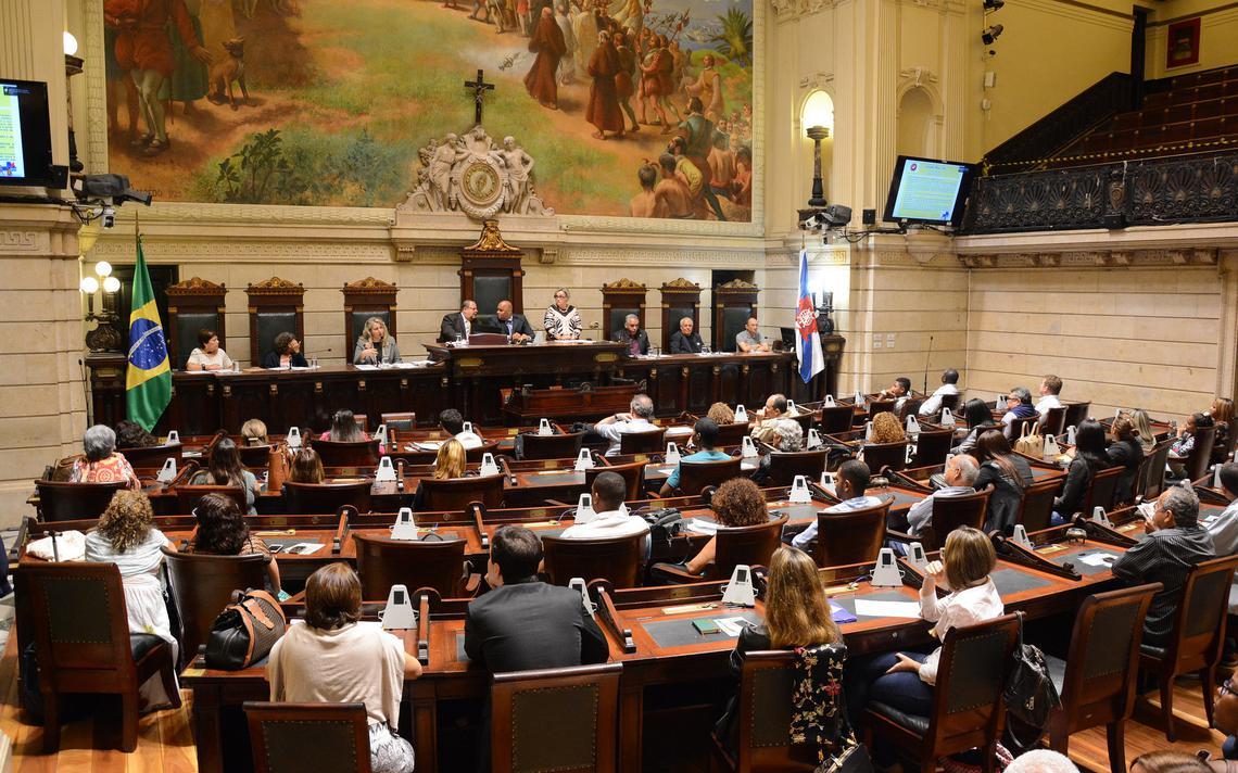Sessão na Câmara Municipal do Rio de Janeiro