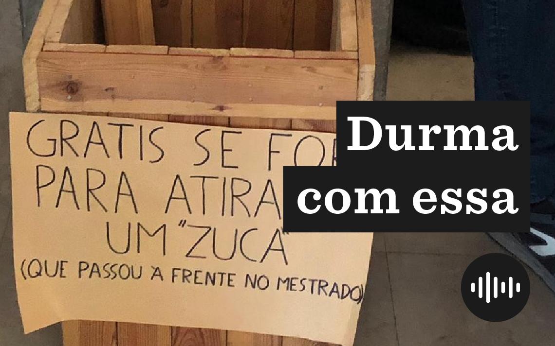 Caixa com pedras colocada como ameaça aos brasileiros na Faculdade de Direito da Universidade de Lisboa