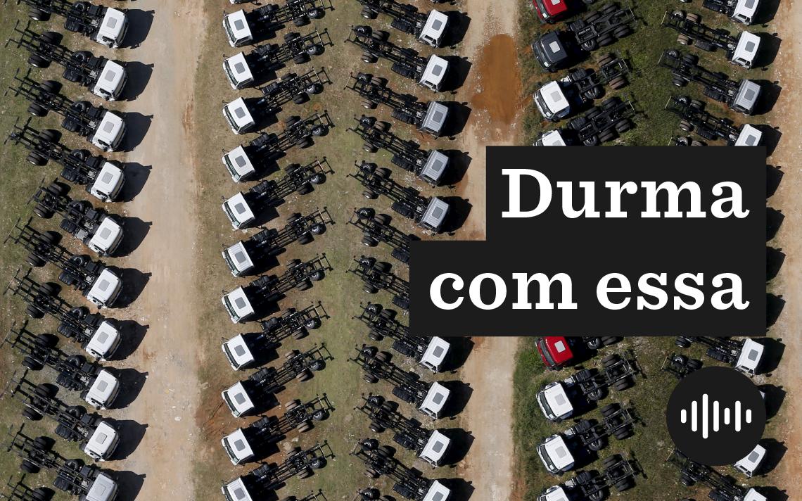 Caminhões no pátio da montadora Ford, em São Bernardo do Campo (SP)