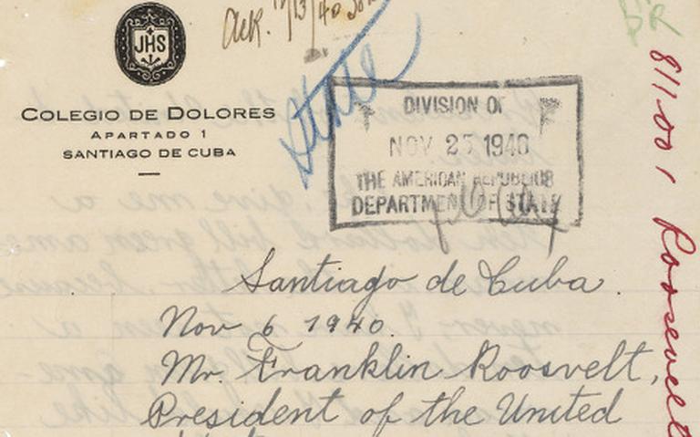 Carta de Fidel Castro a Franklin D. Roosevelt