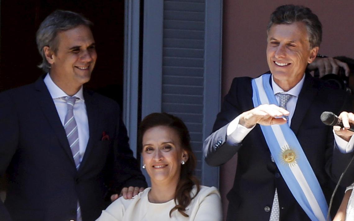 Macri e Gabriela Michetti na Casa Rosada