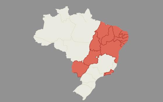 Onde estão os casos de microcefalia no Brasil em 2015