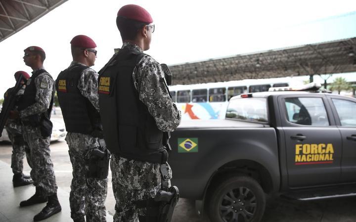 Membros da Força Nacional em Fortaleza, em janeiro de 2019