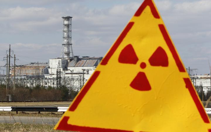 Placa em Chernobyl