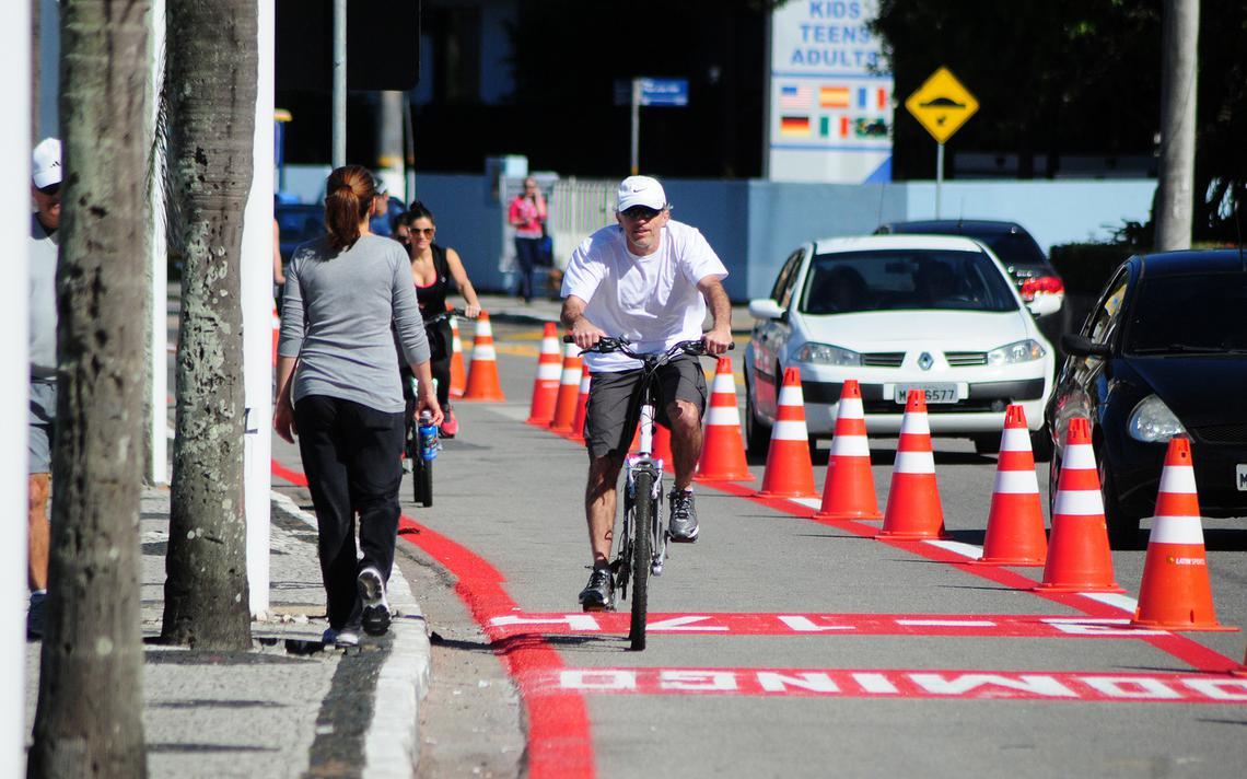 Ciclista em Florianópolis