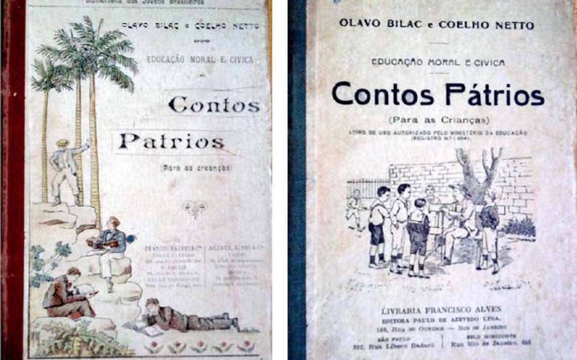Edições de 1911 e 1954, de Olavo Bilac e Coelho Neto, citadas em artigo acadêmico de 2011 de Patrícia Hansen