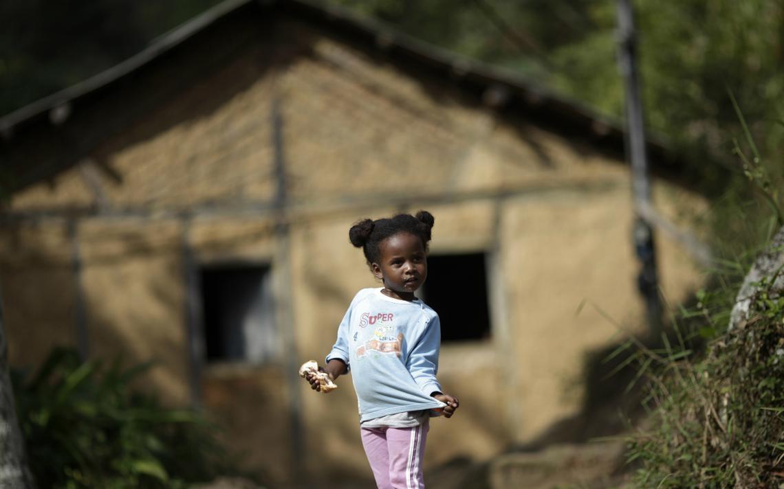 Criança Quilombo São José, na cidade de Valença (RJ)