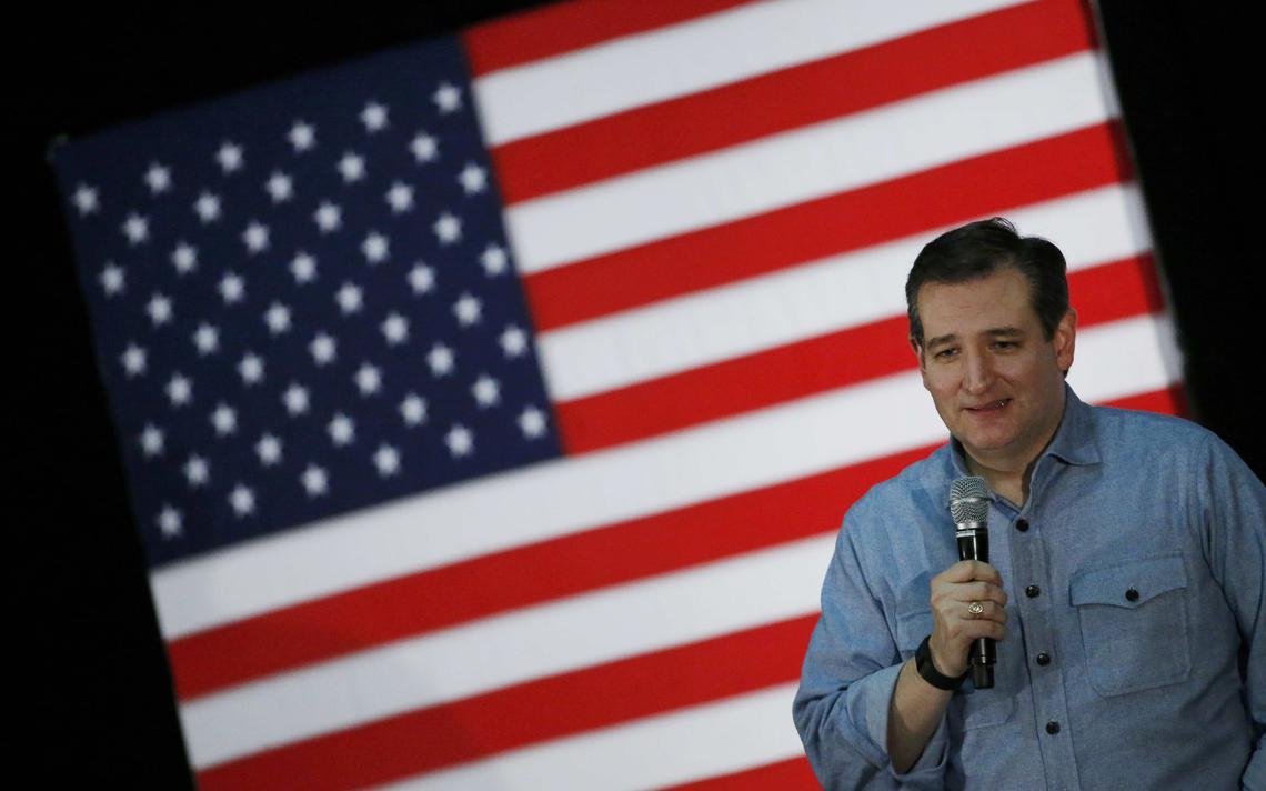 Ted Cruz em comício nos EUA