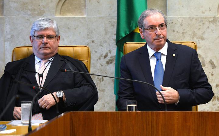 Procurador-geral da República, Rodrigo Janot, e presidente da Câmara, Eduardo Cunha